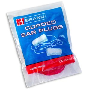 B-Brand Corded Foam Disposable Ear Plugs (Pack of 200)