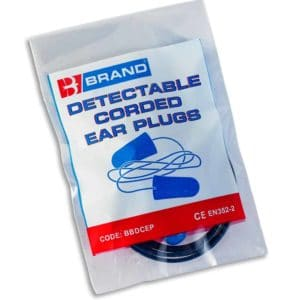 B-Brand Corded Foam Detectable & Disposable Ear Plugs (Pack of 200)