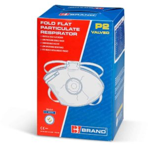 P2 Fold Flat Valved Mask (Pack of 20)