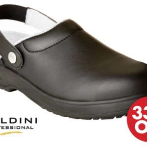 Soldini Safety Clogs in Black – Italian  Synthetic Leather Safety Shoes