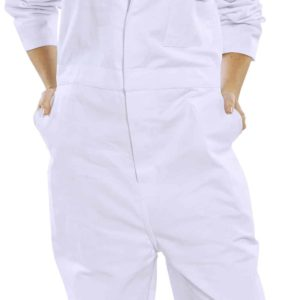 Click Cotton Boilersuit – White