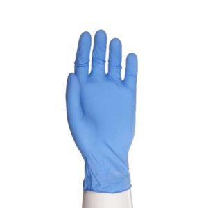Aurelia Transform Ice Blue Nitrile Examination Gloves Powder Free (Box of 100 Pairs)