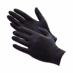 Aurelia Bold Black Nitrile Examination Gloves Powder Free (Box of 100 Pairs)