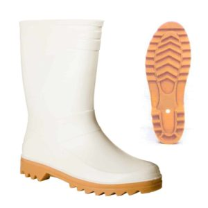 White Short / Half Legnth Wellington Boot by Soldini