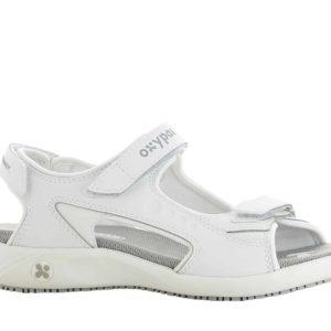Oxypas Olga Leather Nursing Sandal with Anti-slip and Anti-static