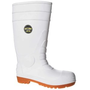 White Poseidon S4 SRA Wellington Boot by Safety Jogger