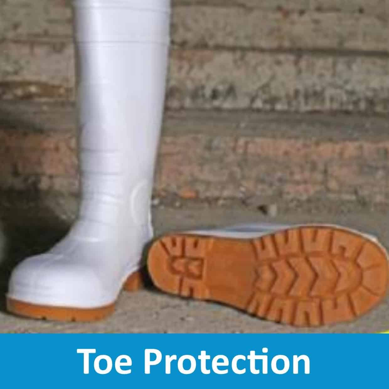 Footwear with Toe Protection