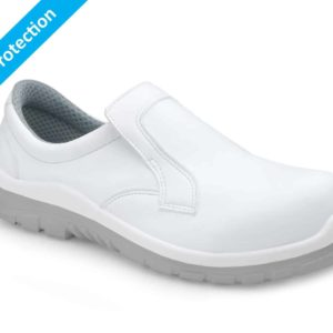 Soldini Safety Shoes in White – Italian Anti-slip Shoes with Safety Toecap