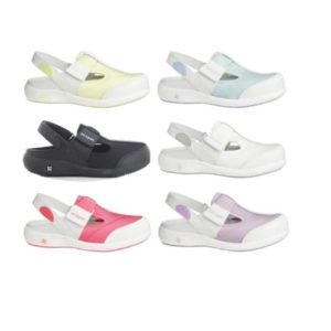 Oxypas Move Anais Leather and Lycra Nursing Shoes, Designed for Sore Feet