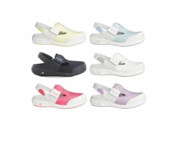 Oxypas Move Anais Leather and Lycra Nursing Shoes