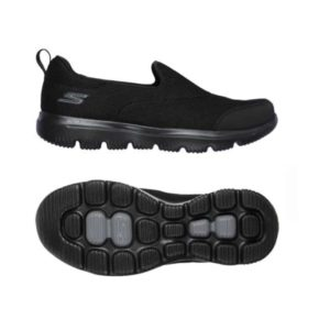 Ladies: Skechers Go Walk Reach Shoe in Black