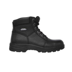 Men:'Workshire' ST SB FO SRA Slip-resistant Boot with Steel Toecap in Black by Skechers For Work