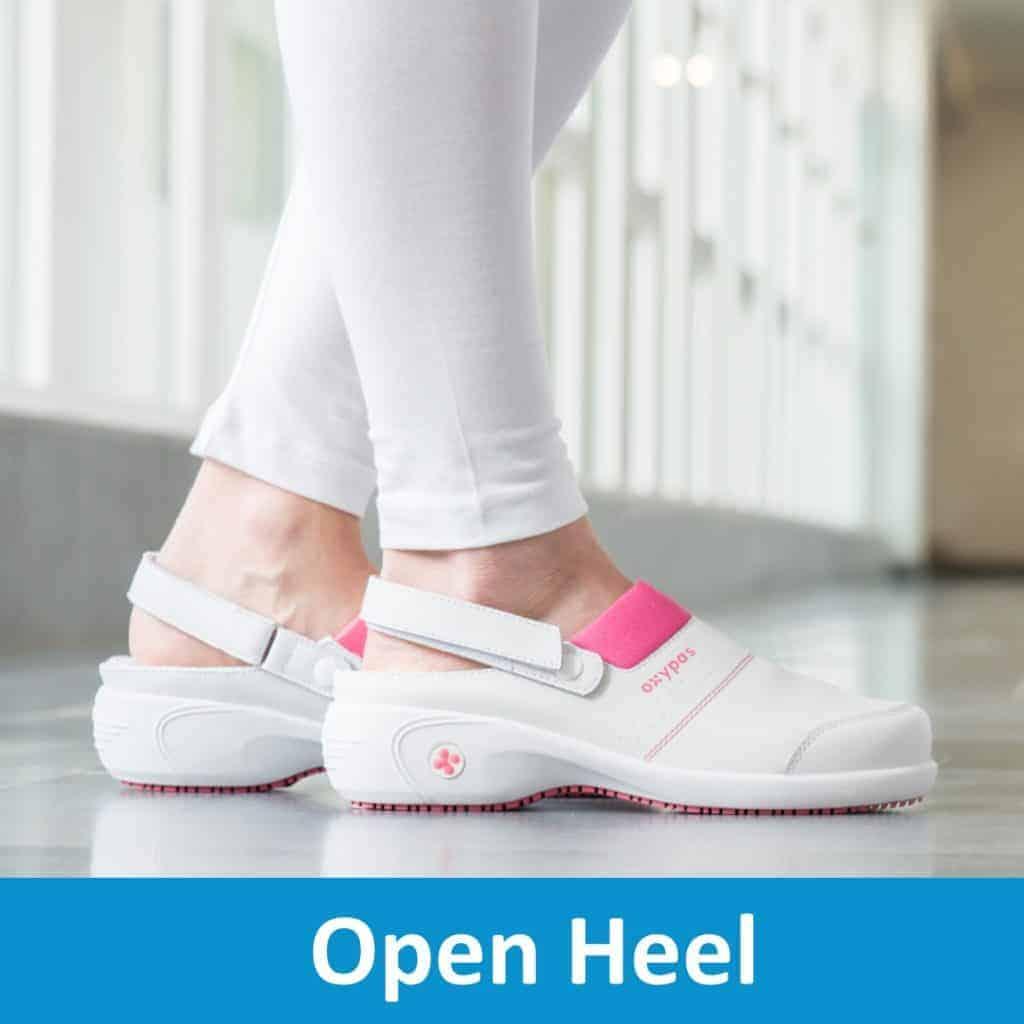 Open Heel Nursing Clogs