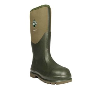 Chore Classic Steel Muck Boot SB FO E SRA with Reinforced Heel & Toe in Moss Green. Safe & Comfortable