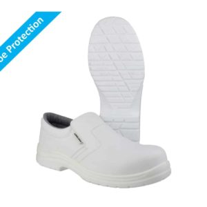 FS510 S2 SRC Washable, White Metal Free Slip On Safety Shoes with Composite Toe Protection