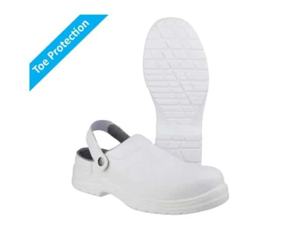 White Safety Clogs