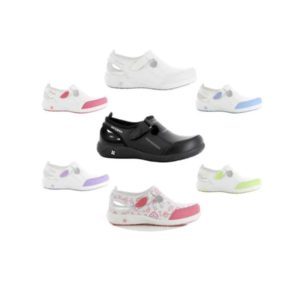 Oxypas Lilia Leather Nursing Shoe from Safety Jogger Professional EN ISO 20347 OB SRC ESD