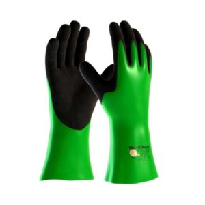 MaxiChem 56-635 Chemical Resistant Gloves in Green with Black Palm