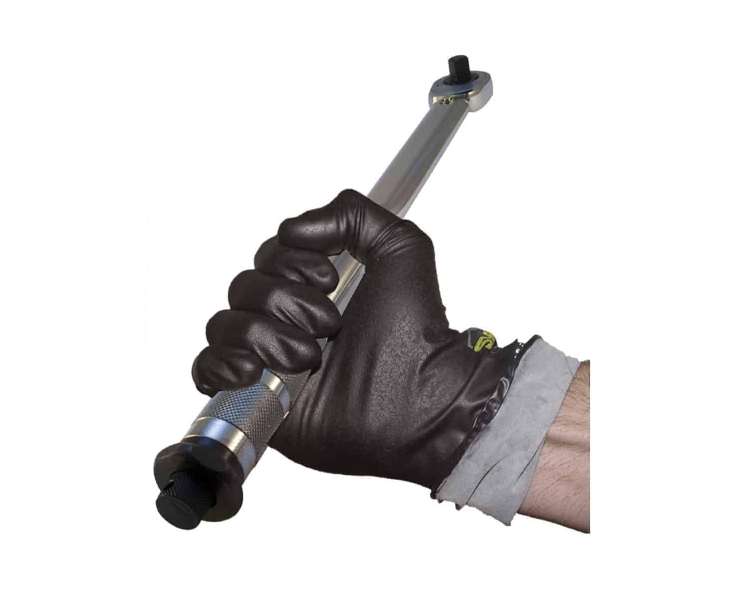 Megaman Flocked Sweat-absorbing Moisture-wicking Lined Nitrile Industrial Gloves