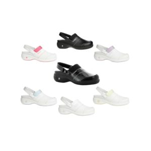 Oxypas Move Up Sandy Leather Nurses Clog with Raised Heel from Safety Jogger Professional