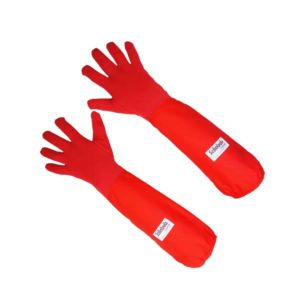 Scilabub® Nomex® 7154C Autoclavable Gauntlet Gloves in Red. Safe & Comfortable