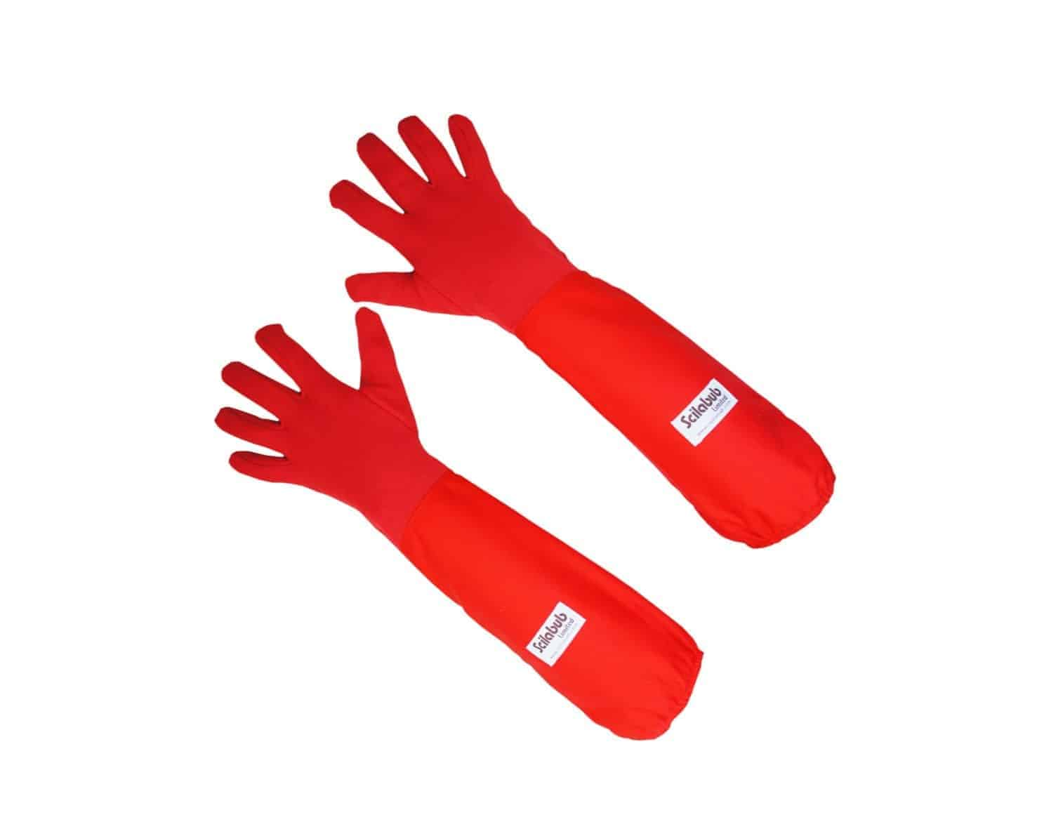 Autoclavable Gauntlet Gloves in Red
