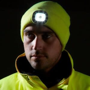 NEW:  Warm & Comfortable LED Headlight Beanie Hat – USB Rechargeable