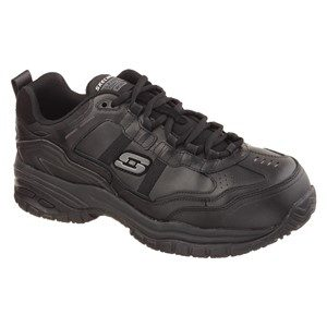 Men: 'Soft Stride' SK77013EC SB FO SRC Slip-resistant, Waterproof Leather Shoe with Composite Toecap in Black by Skechers For Work