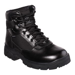 Men:'Wascana' SK77160EC WP OB SRA Slip-resistant, Waterproof Leather Boot in Black by Skechers For Work