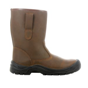Alaska S3 SRC CI Unisex Warm-Lined Rigger Style Brown Leather Safety Boot by Safety Jogger