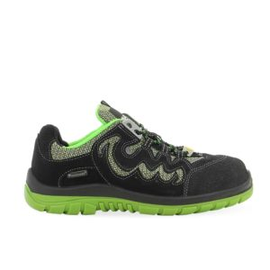 Maxguard P380 S1 SRC ESD Suede Safety Shoe in Black & Green