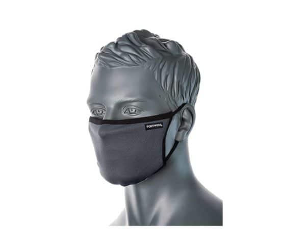 CV30 3 Ply Reusable Face Mask Grey