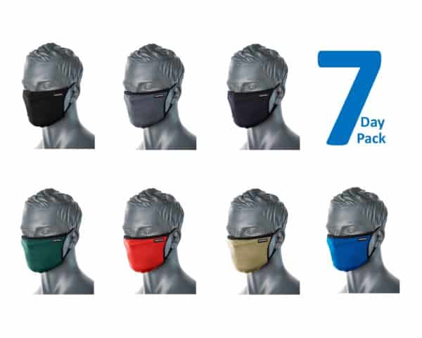 CV30 Reusable Fabric Face Masks 7 Day Pack