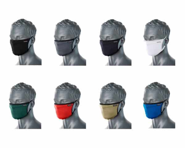 CV30 3 Ply Reusable Fabric Face Masks Assorted Colours