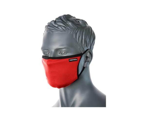 CV30 3 Ply Reusable Face Mask Red
