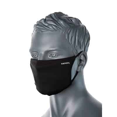 CV33 Anti-Microbial Face Masks Black