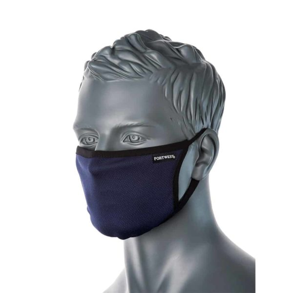 CV33 Anti-Microbial Face Masks Navy