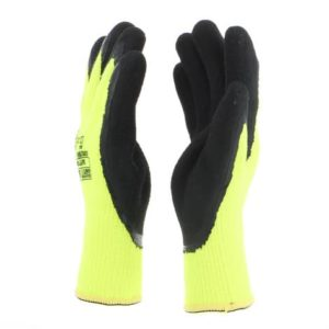 Construhot Warm Hi-Vis Safety Gloves by Safety Jogger Gloves (Pack of 12 Pairs)
