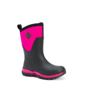 Arctic Sport II Mid Women's Muck Boots in Black with Pink