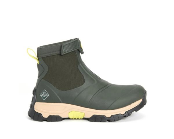Men's Muck Boots Apex Zip Short Boots in Olive