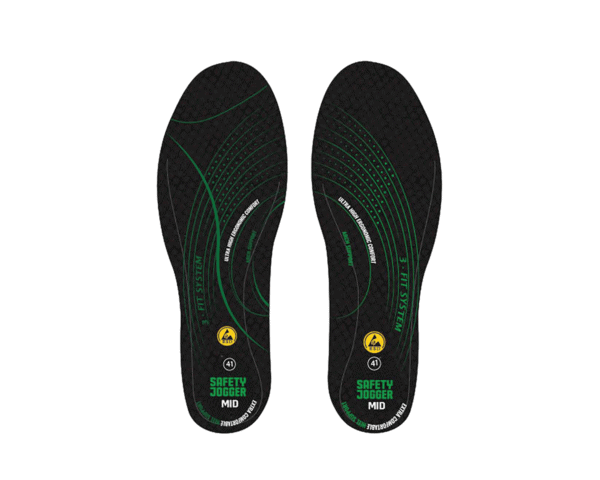SJ HYBRID insole with SJ-3FIT Technology MID