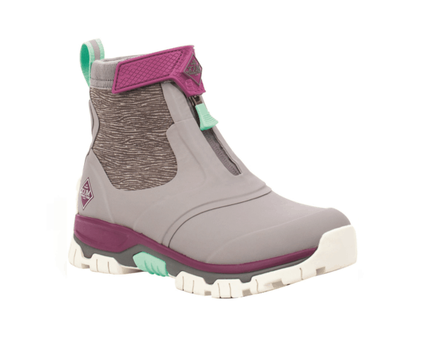 Women's Muck Boots Apex Zip Short Boots in Frost Grey